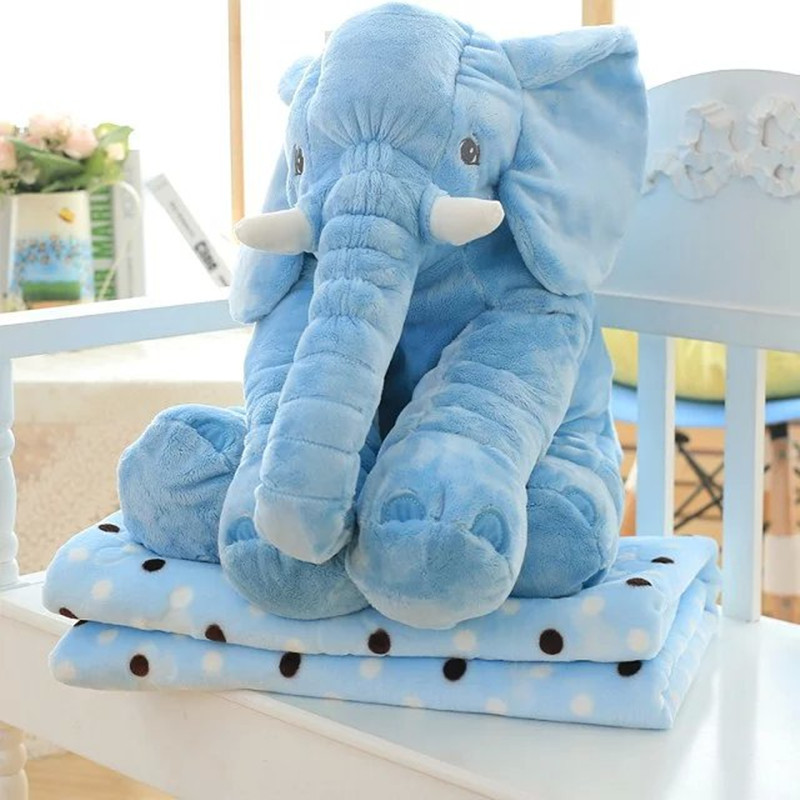 10sets Lot Pillow Blanket Set Elephant Plush Blanket Animal Stuffed