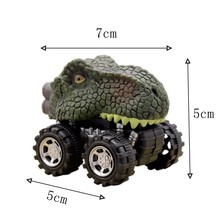Children's Car Toy Pull Back Car Jurassic World Dinosaur Model Baby Car Car Die-casting Toy Children's Toy Car 1piece Set TOY141(China)