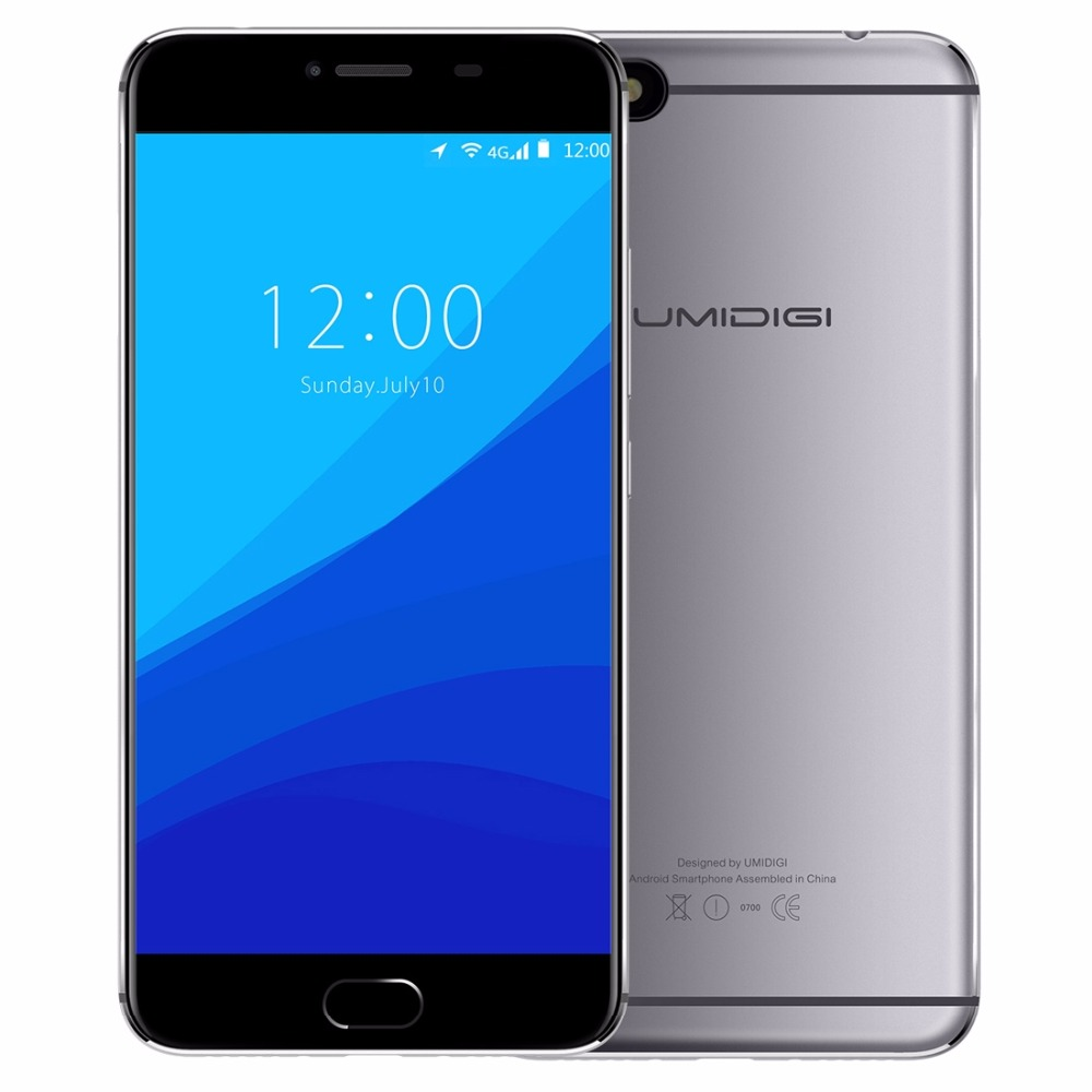 Original UMI UMIDIGI C NOTE MTK6737T 3800mAh 3GB+32GB 1.5GHz Quad Core Android 7.0 5.5 Inch 2.5D FHD Screen 4G LTE Smartphone