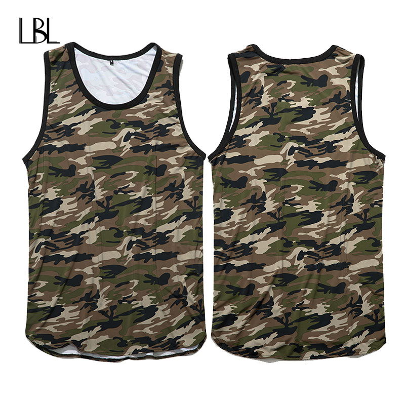 Brand Men Tank Top Tshirts Sleeveless Fitness Clothing Bodybuilding Tank Top Men Clothes 2018 Summer camouflage Vest For Men
