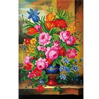 59 80 Flower Picture 5D Diy Diamond Painting Rhinestones Regalos De Boda Embroidery DMC Cross Stitch