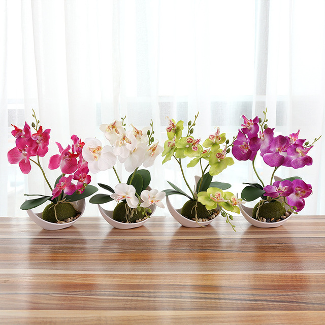 2017 wedding decoration artificial butterfly orchid bonsai 2017 wedding decoration artificial butterfly orchid bonsai decorative fake flower with pot ornaments home table decor junglespirit Images