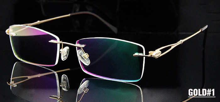 Titanium Rimless Glasses Women (4)