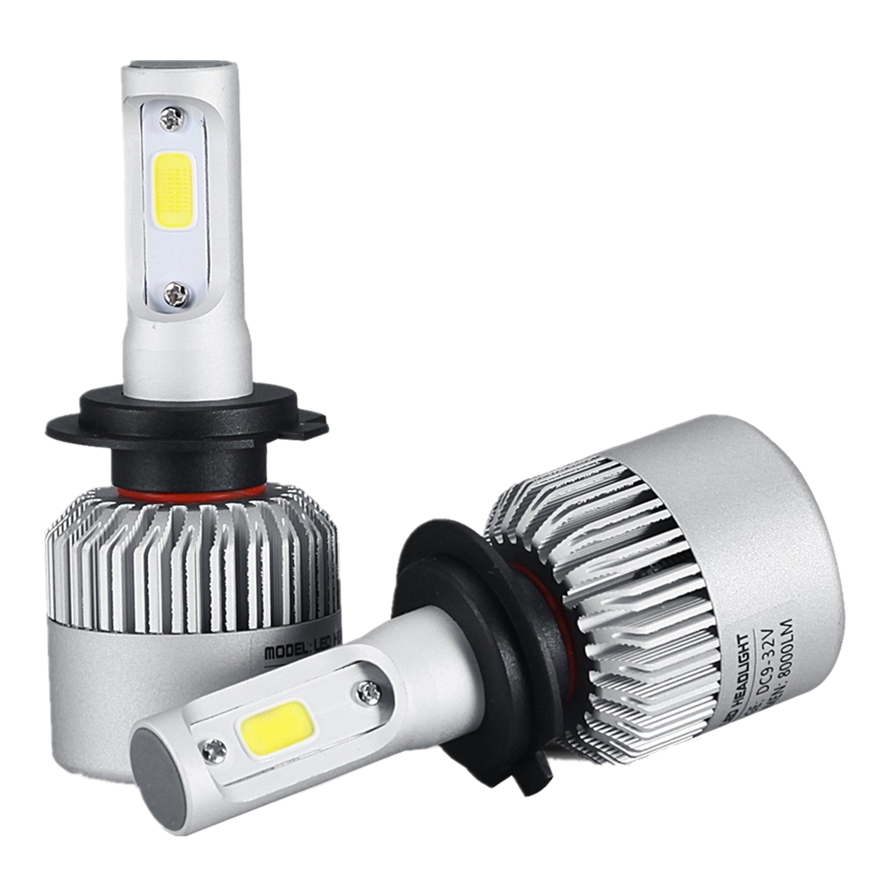 1Pair Car H7 LED Headlight Bulb COB 72W 8000lm LED Running Fog Lights Auto Car LED Headlamp For Ford Nissan Kia Toyota Chevrolet  1pair h8 h9 h11 car led headlight bulb cob 72w 8000lm car led fog lights auto led headlamp bulbs for vw hyundai toyota kia honda