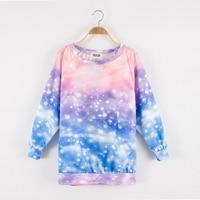 2016 nowy harajuku galaxy przestrzeń kobiet top bluza drukowane pani galaxy bluzy odzieży wysokiej jakości darmowa wysyłka