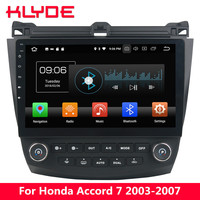 KLYDE 10.1 IPS 4G Android 8 Octa Core 4GB+32GB Car DVD Player For Honda Accord 7th 2003 2004 2005 2006 2007+Air Condition Board