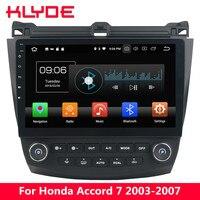 KLYDE 10,1 ips 4G Android 8 Octa Core 4G B + 32 ГБ dvd плеер для Honda соглашения 7th 2003 2004 2005 2006 2007 + кондиционер совета
