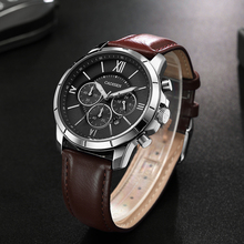 9060 CADISEN Hot Fashion Sport Men Watches Brand Luxury Quartz Watch Men Leather submarine Military Wristwatch Relogio Masculino стоимость
