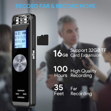 Digital Voice Recorder 8GB Sound Audio Dictaphone Support TF Card for Lectures Meetings GY88 secret dictaphone digital voice recorder mini registrar hifi stereo sound microphone support telephone recording tf expansion