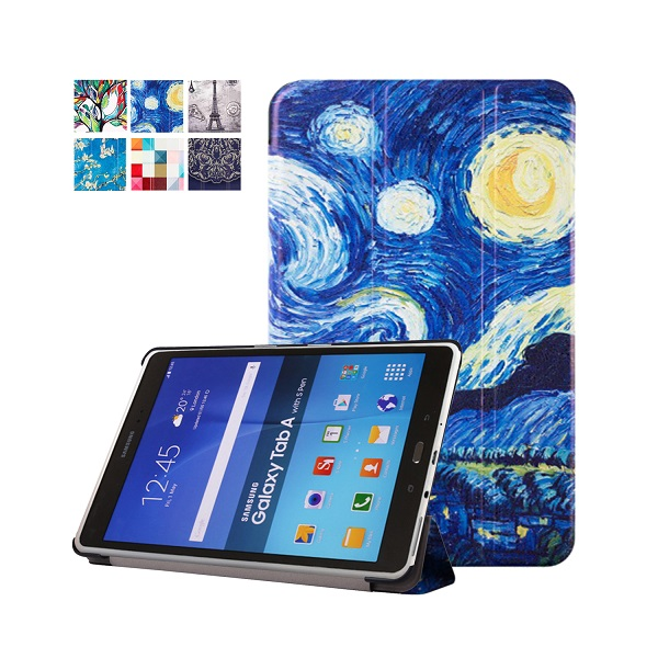 For Samsung Galaxy Tab A 9.7 T550 T555 PU Leather Art painting Stand Case Cover for Galaxy Tab A 9.7 Tablet + Gift Screen Film veronese ws 98 2 статуэтка клятва гиппократа