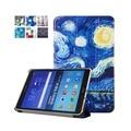Para samsung galaxy tab a 9.7 t550 t555 pu de cuero pintura del arte Cubierta del Caso del soporte para el Galaxy Tab 9.7 Pantalla de la Tableta + Regalo película