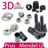 Mendel i2 3D printer dedicated hardware KIT reprap bolts nuts washer + Bearing sets (608ZZ+LM8UU Linear Bearings)