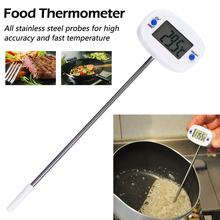 Rotatable Digital Food Thermometer BBQ Meat Chocolate Oven Milk Water Oil Cooking Kitchen Electronic Probe