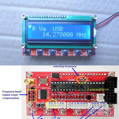 AD9850 Module 6 Bands 0~55MHz DDS Signal Generator Shortwave Radio HAM Radio Amplifier RIT VFO SSB Frequency Meter