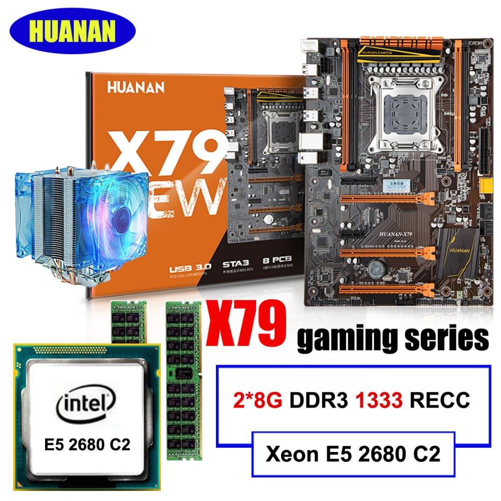 HUANAN X79 deluxe gaming motherboard Intel Xeon E5 2680 C2 RAM 16G 2 8G DDR3 RECC