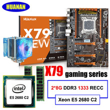 HUANAN X79 deluxe gaming motherboard Intel Xeon E5 2680 C2 RAM 16G(2*8G) DDR3 RECC support 64G(4*16G) memorry 2 years warranty