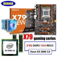 HUANAN deluxe X79 juegos motherboard Intel Xeon E5 2680 C2 RAM 16G (2*8G) RECC DDR3 apoyo 64G (4*16G) memorry 2 años de garantía