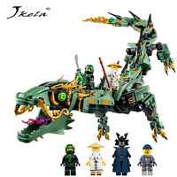 Jkela 592pcs Movie Series Flying Mecha Dragon Building Blocks Bricks Toys Model Gifts Compatible With