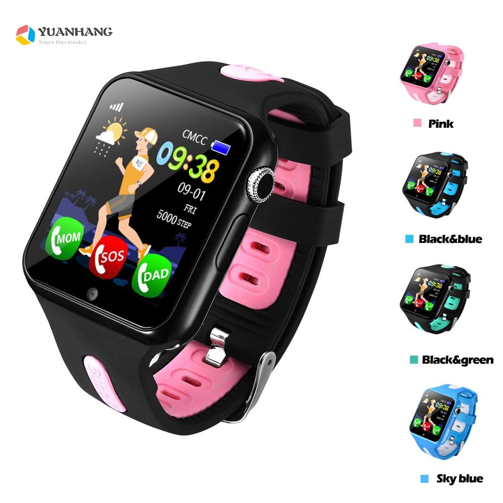 Caméra HD à distance intelligente sûre GPS LBS Tracker localisation Finder appel SOS moniteur Anti-perte V5K montre-bracelet pour enfants étudiant