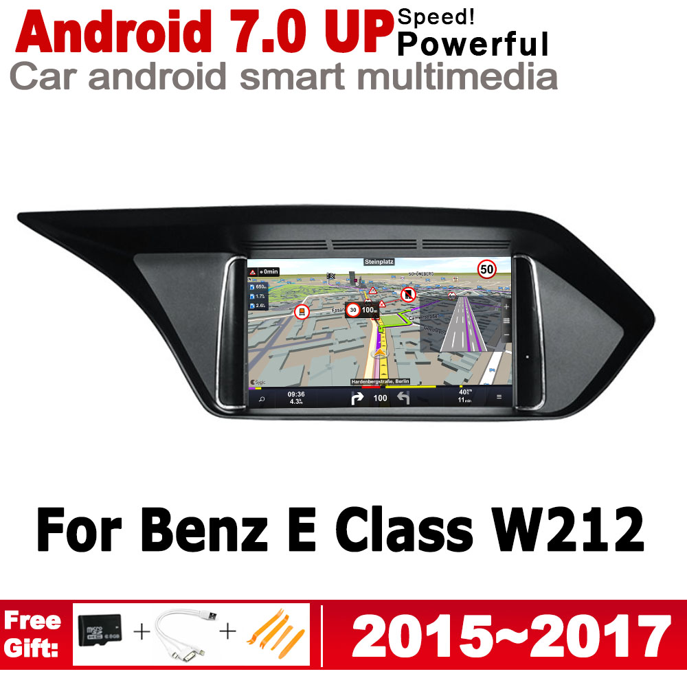 <font><b>Android</b></font> 7.0 up IPS car player for Mecerdes <font><b>Benz</b></font> E <font><b>W212</b></font> 2015~2017 NTG original Style 2 Din radio gps navigation Bluetooth WiFi image
