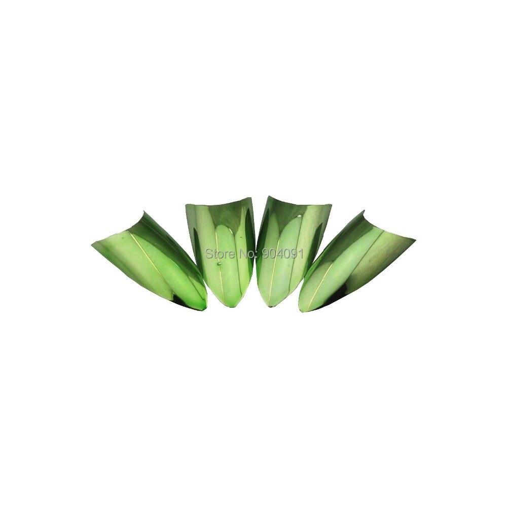 ̿̿̿(•̪ )HOTSALE 70 unids/lote Color verde metálico uñas afiladas ...