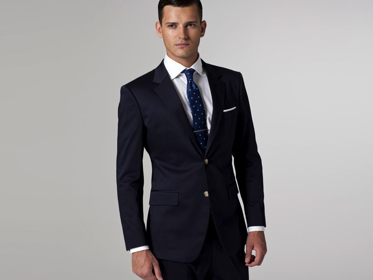 Mens Skinny Navy Suit Dress Yy