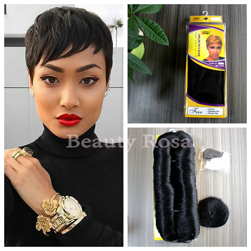 Hot sale cheap human short hair pieces 27 short hair extensions 27 hot sale cheap human short hair pieces 27 short hair extensions 27 pieces short human straight hair weave style in large stock on aliexpress alibaba pmusecretfo Image collections