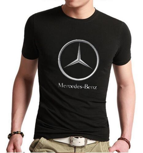 Male T-Shirt With Mercedes Logo (12 Colors)