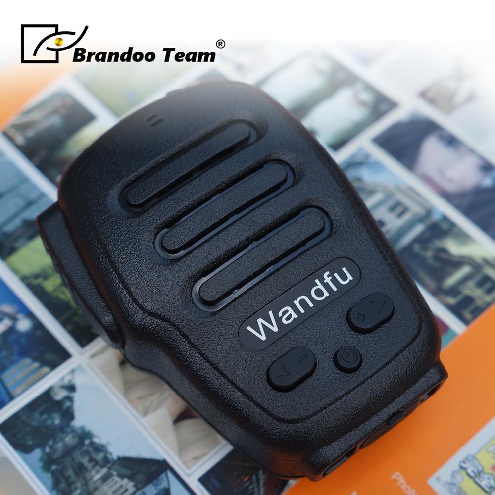 Bluetooth PTT Walkie Talkie Hand Mic Microphone And Speaker Support Zello Kodiak Grouptalk