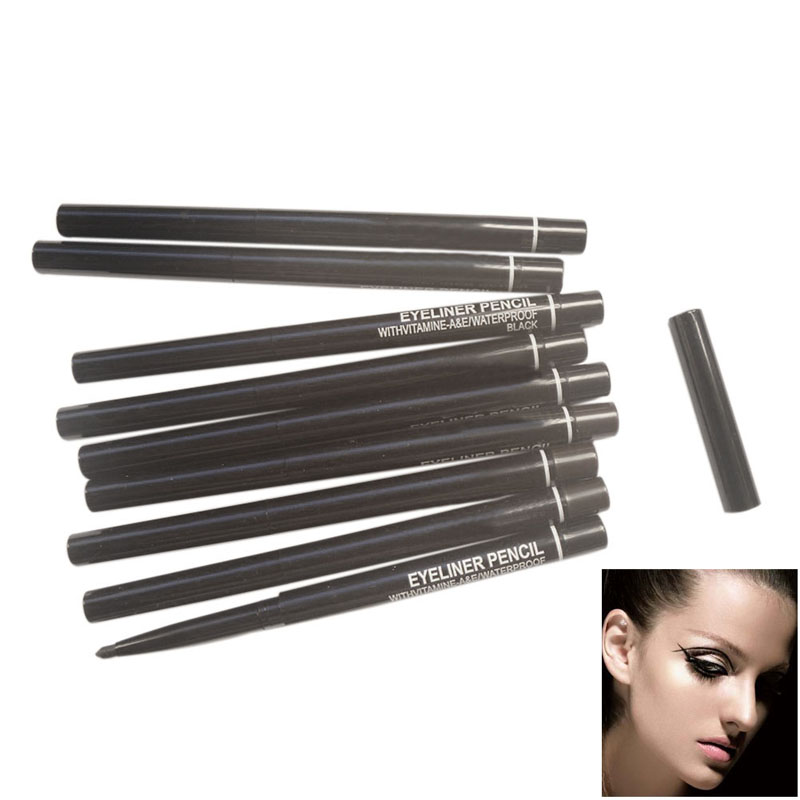 Waterproof Rotary Gel Cream Eye Liner Black Eyeliner Pen Makeup Cosmetic 88 SK88 water resistant cosmetic makeup liquid eyeliner thick pen black