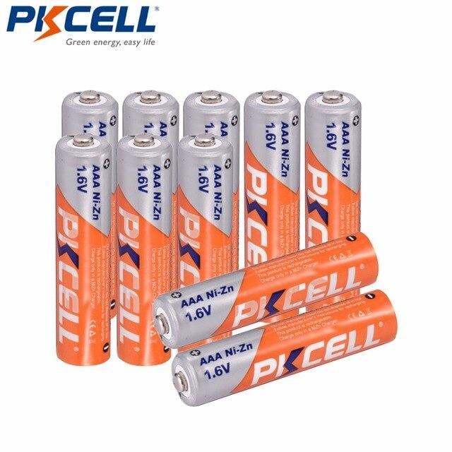 10個のx pkcell aaaバッテリーni zn系900mWh 1.6v aaa充電式バッテリー3A bateria baterias