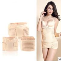 3Pieces/Set Maternity Postnatal Belt After Pregnancy bandage Belly Band waist corset Pregnant Women Slim Shapers underwear