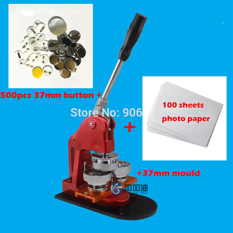"NEW 1-1//4/"" 32mm Kit N3 Badge Button Maker Machine+Circle Cutter+100 Pin Badge"