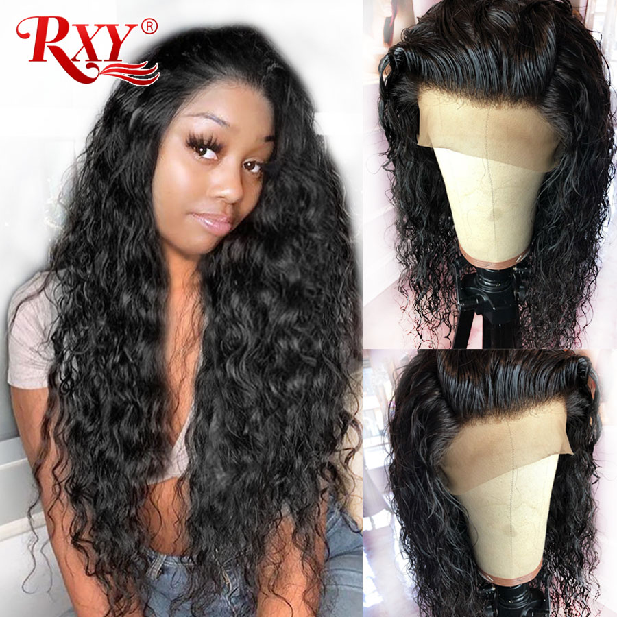 Water Wave Lace Front Human Hair Wigs For Black Women RXY Brazilian Remy Hair Swiss Lace Wig 13×6 Deep Part Lace Frontal Wig