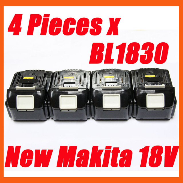 4 packs makita 18v 3Ah lithium compact battery BL1830 for power tool --  free shipping