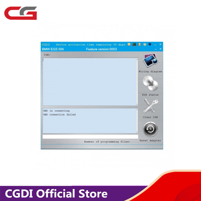 EGS ISN Authorization For CGDI Prog For BMW MSV80 Key Programmer Add In 24 Hours