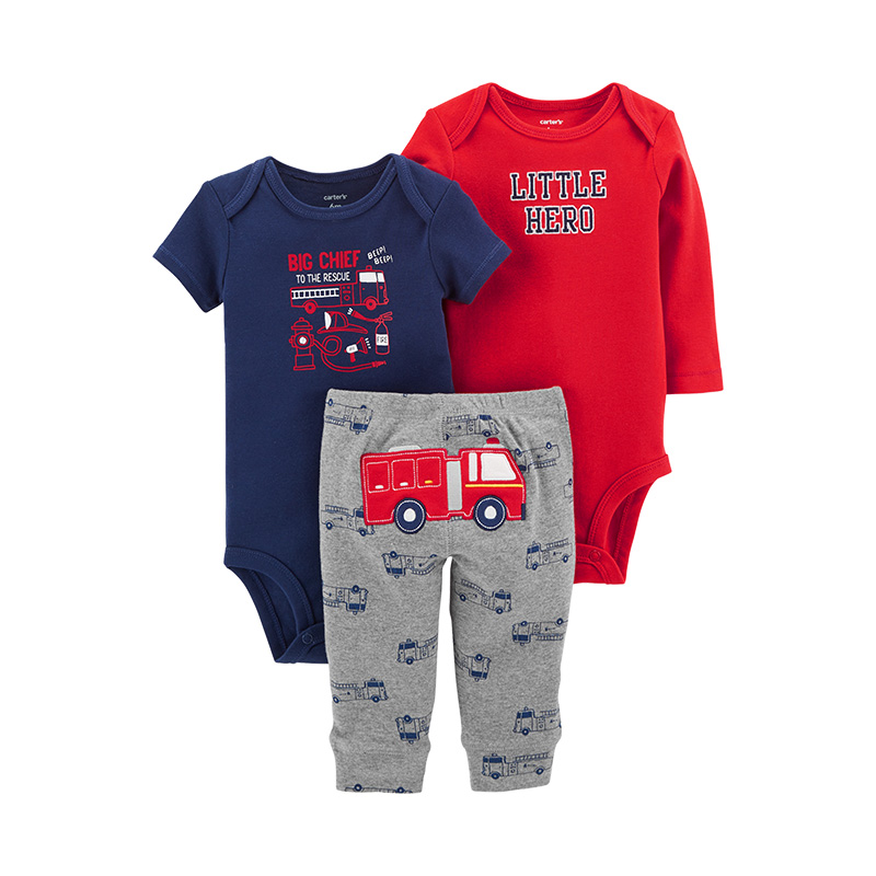 9bc3059ef88d Carters 3 Piece Little Character Set Cute bodysuits long pant baby girl  autumn winter clothes newborn baby boy clothing 126H494-in Clothing Sets  from Mother ...