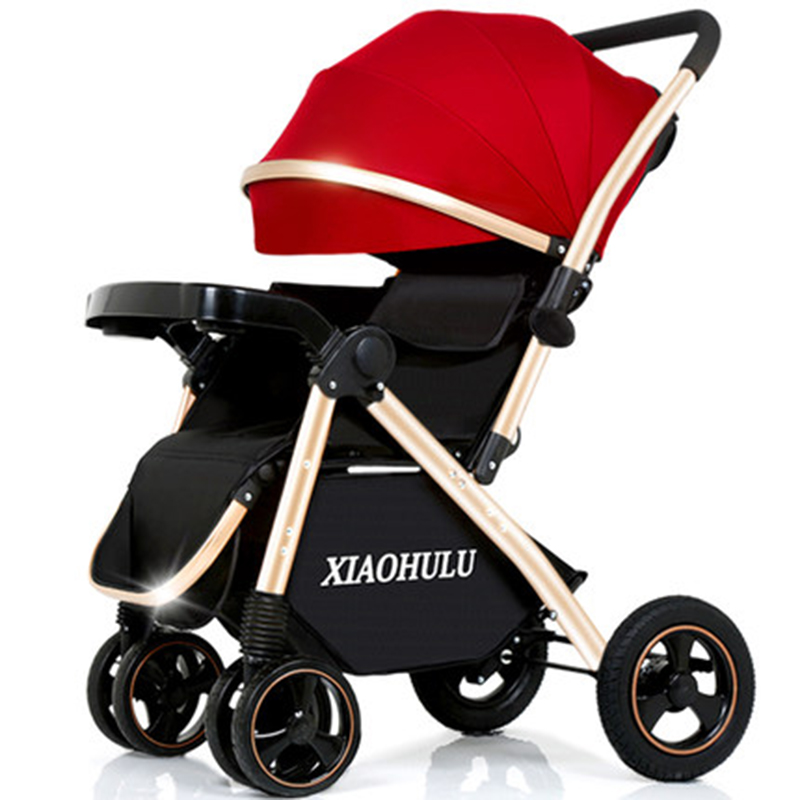 Baby stroller can sit reclining lightweight folding high landscape shock absorber child baby stroller baby carriage