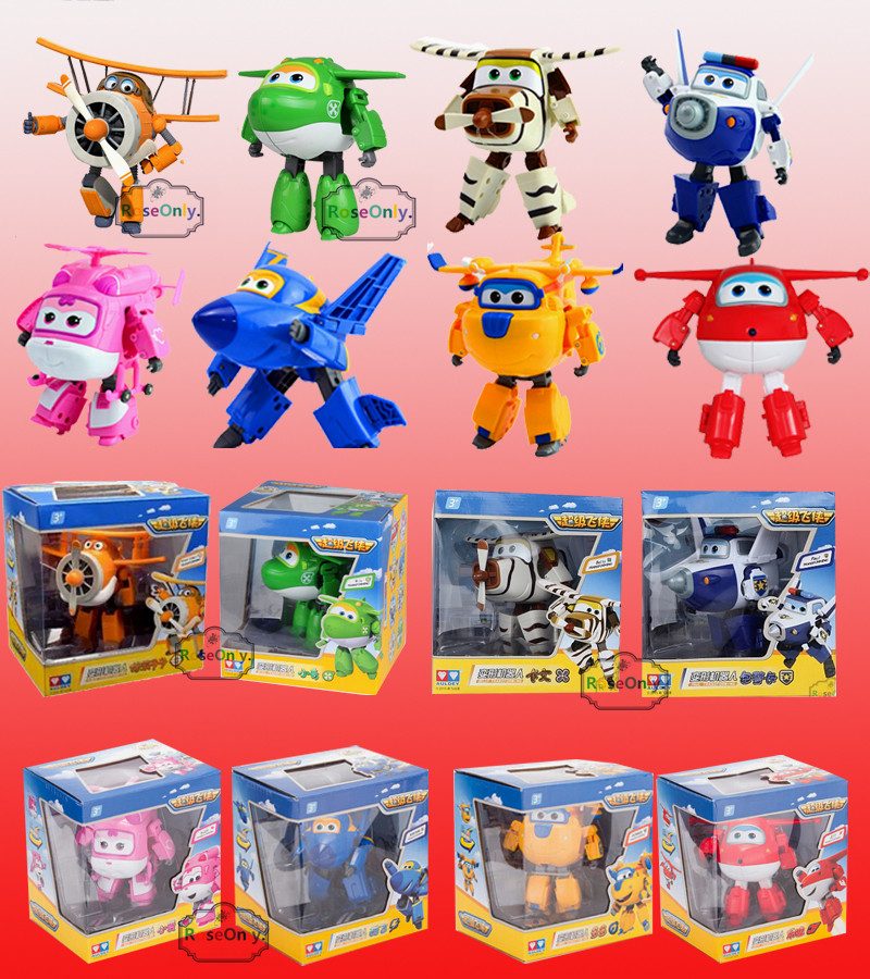 15CM Super Wings toys Mini Planes Model Transformation Robot Airplane Action Figures Boys Birthday Gift Brinquedos