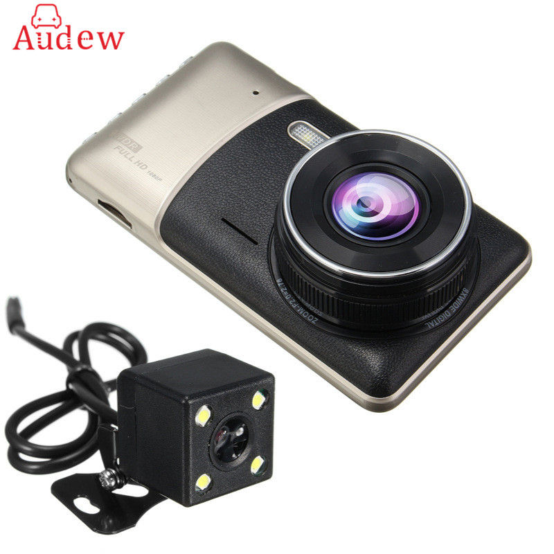 Dual Lens Car DVR Camera 4.0 Full HD 1080P Video Recorder Registrator G-Sensor Night Vision Car Camcorder DVRs Dash Cam mini wifi car dvr camera camcorder 1080p full hd video registrator parking recorder g sensor dash cam night vision dvrs