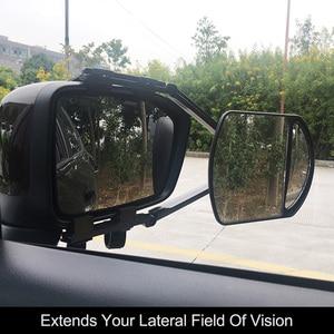 Image 1 - Adjustable Clip on Trailer Towing Dual Mirror Car Caravan Trailer Rearview Mirror Extension Towing Mirror Glass for Car Caravan