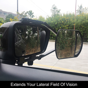 Image 1 - Einstellbare Clip auf Anhänger Abschleppen Dual Spiegel Auto Caravan Trailer Rückspiegel Erweiterung Abschleppen Spiegel Glas für Auto Caravan
