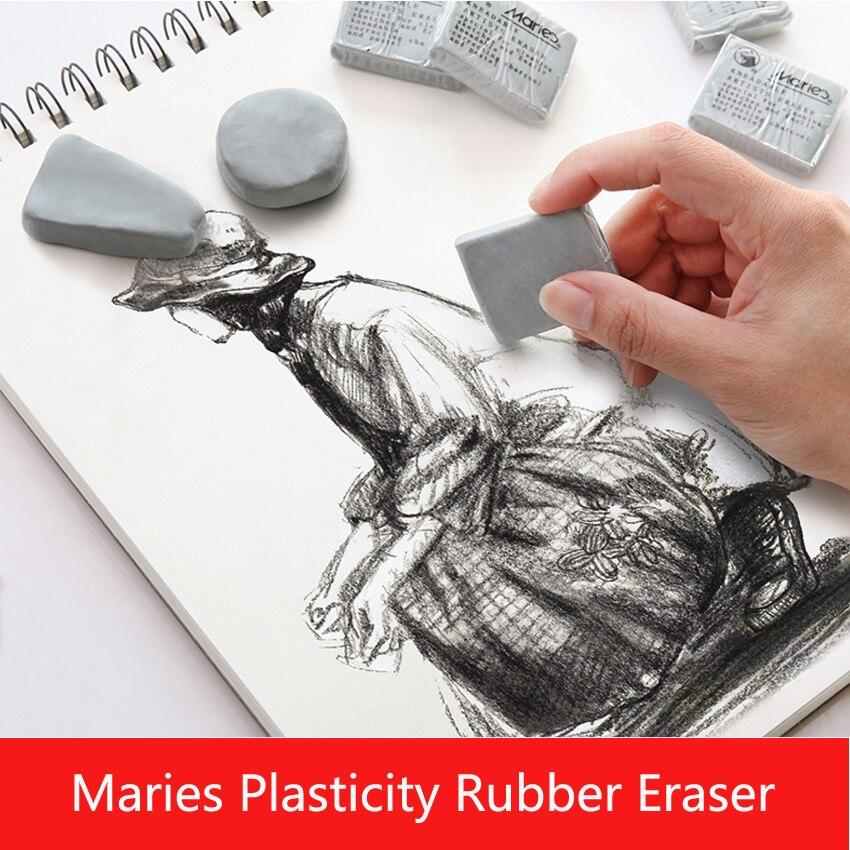 Maries Plasticidade Borracha Borracha Macia Limpar destaque Amassado Projeto de Borracha Para A Arte Pianting Esboço Desenho Plasticina Papelaria