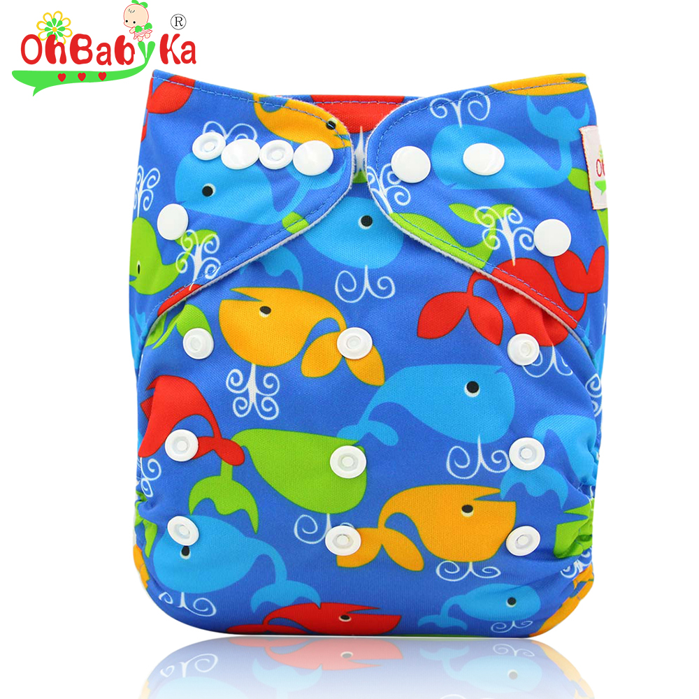 Ohbabyka Couche Lavable Cloth Diapers Reusable Newborn ...