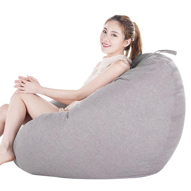Sofás do Saco de feijão para o Miúdo Adulto Sala Sofá Preguiçoso Cadeira Relaxar Espreguiçadeira Cadeira do Saco de Feijão Sala de estar Do Quarto Das Crianças sofá Do Saco de feijão