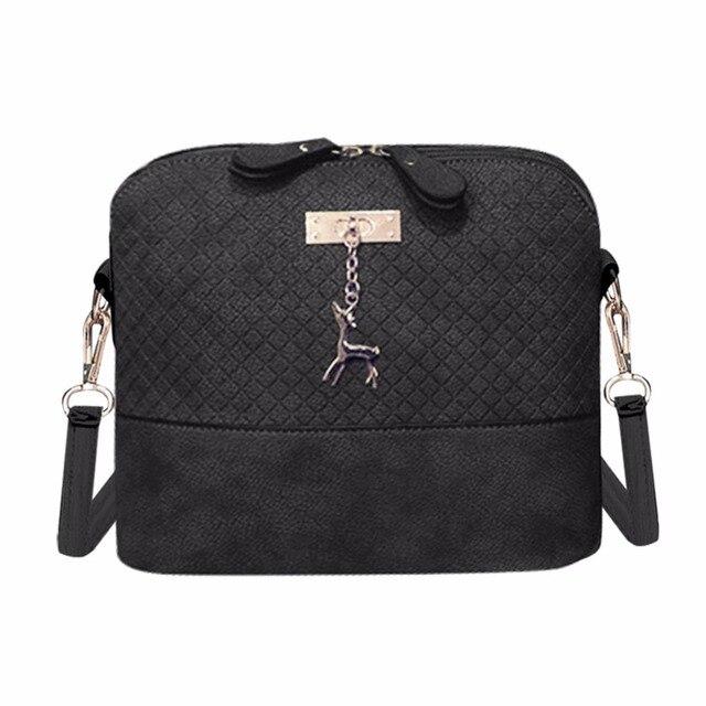 f1d235c152b6f الإناث قذيفة حقيبة لينة بو الجلود المرأة حقيبة البرية الكتف رسول Crossbody  حقيبة مبطن مع قلادة