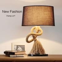 Country Style Retro Lamp Creative Hemp Rope Desk Lamp Linen Rope Lamp Bar Decoration Creative Table Lamp MT 4026