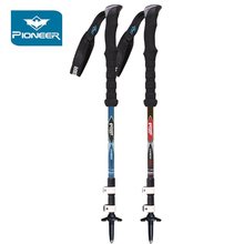 Pioneer Adjustable Carbon Trekking Poles Nordic Walking Stick Ultralight Hiking Pole Climbing Cane Telescoping