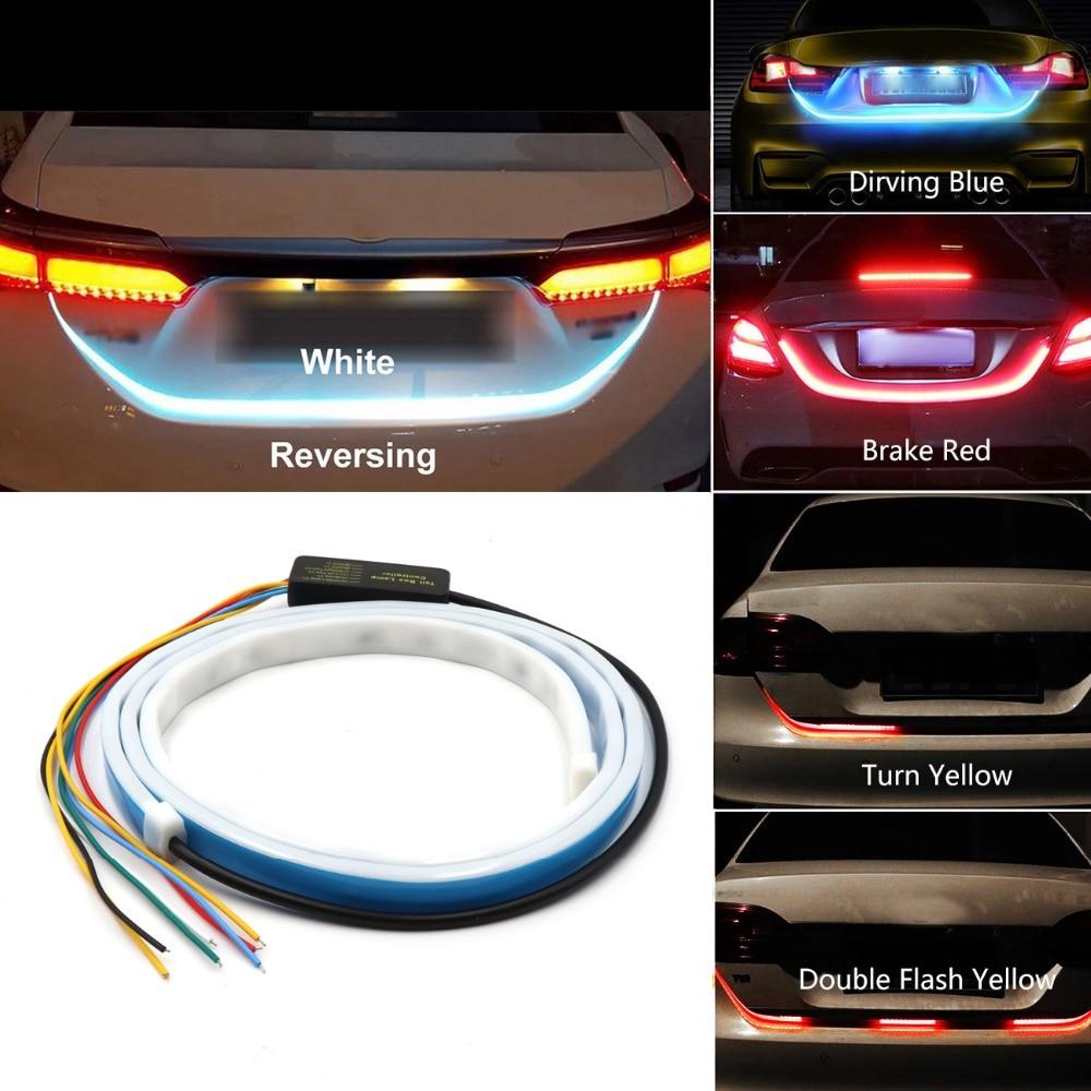 Niscarda 4 Mode Car Rear LED Trunk Additional Stop Light Strip Auto Turn Signal Flexible Tailgate Luggage Warnning Lamp