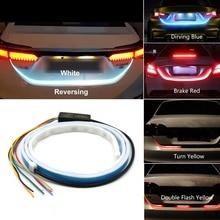 Niscarda 4 режима заднего светодиодный Магистральный светильник полосы автомобильный поворотный сигнал гибкие багажника Чемодан Warnning лампы Белый красные, синие желтый